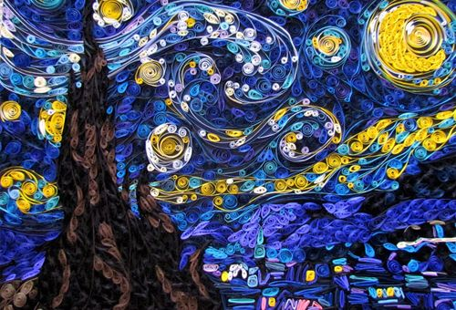 Geek Art Gallery: Papercraft: Van Gogh's Starry Night