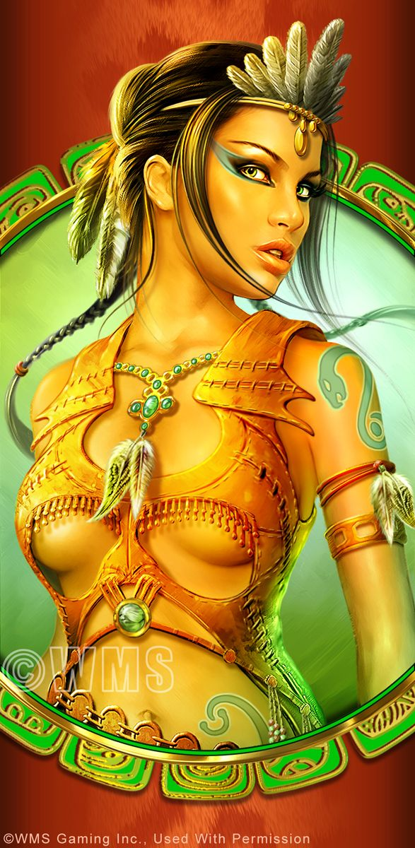 Shannon Maer - Casino Video Slot Game Development - Theme Artwork - Balance GFX - Gallery - shannonmaer_mayanprincess.jpg