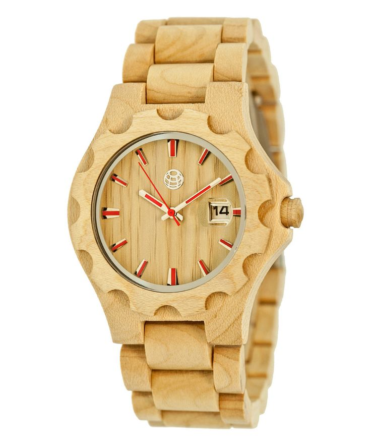 Another great find on #zulily! Khaki & Tan Gila Bracelet Watch by EARTH wood watches #zulilyfinds