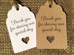 Thank you for sharing our special day - wedding favour tags