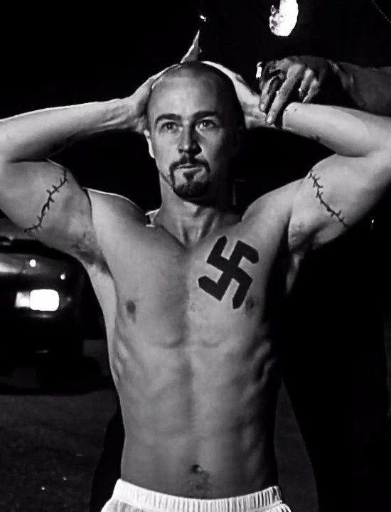 American History X, Edward Norton is astonishing in this film...