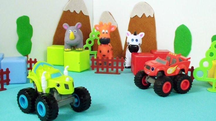 Spielzeugautos: Monster Machines - Blaze im Zoo - Wir retten die Tiere
