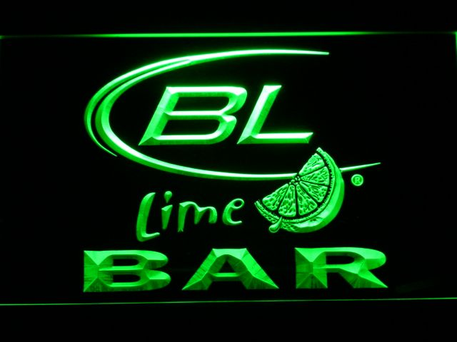 678 BAR Bud Lite Lime Beer LED Neon Sign with On/Off Switch 7 Colors 4 Sizes to choose