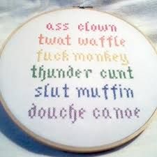 Image result for rude cross stitch pattern