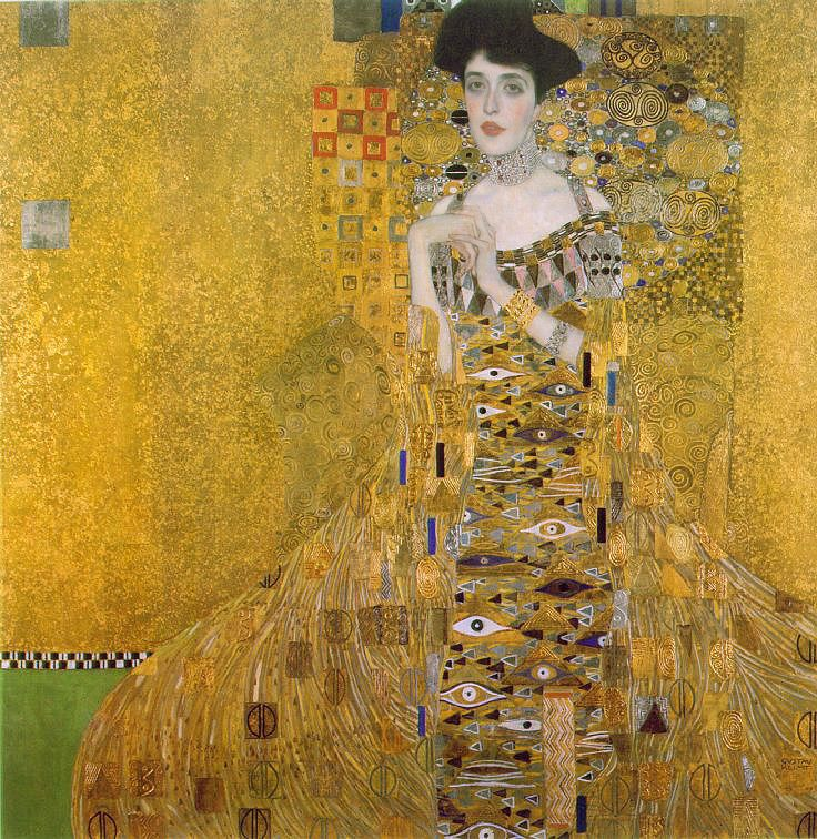 The Rape of Europa-  This painting in Vienna is their icon. One of the most important images of Autrian art in the 20th centurty. Gustav Klimt's Portriat of Edal Blocbuaer is one of the many paintings that has been contested.  Stollen from the home of Ferdinad Blocbaurer as part of the industrail looting of the Nazis.  Few know that it is a painting of  jewish woman.