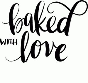 Download Baked with love | Silhouette design, Silhouette cameo ...