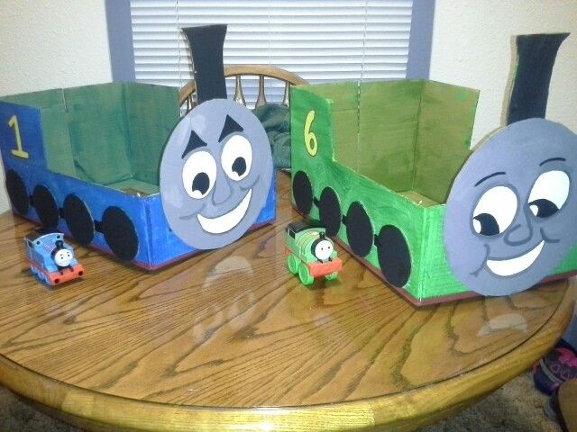 how to make a cardboard train engine