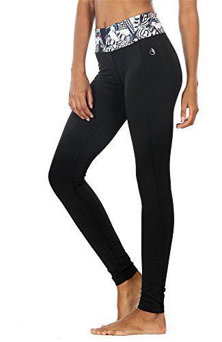icyzone Pantalons Elastiques de Yoga Femmes Leggings Taille Haute Fitness  Jogging Collants  b8bc77d0de0