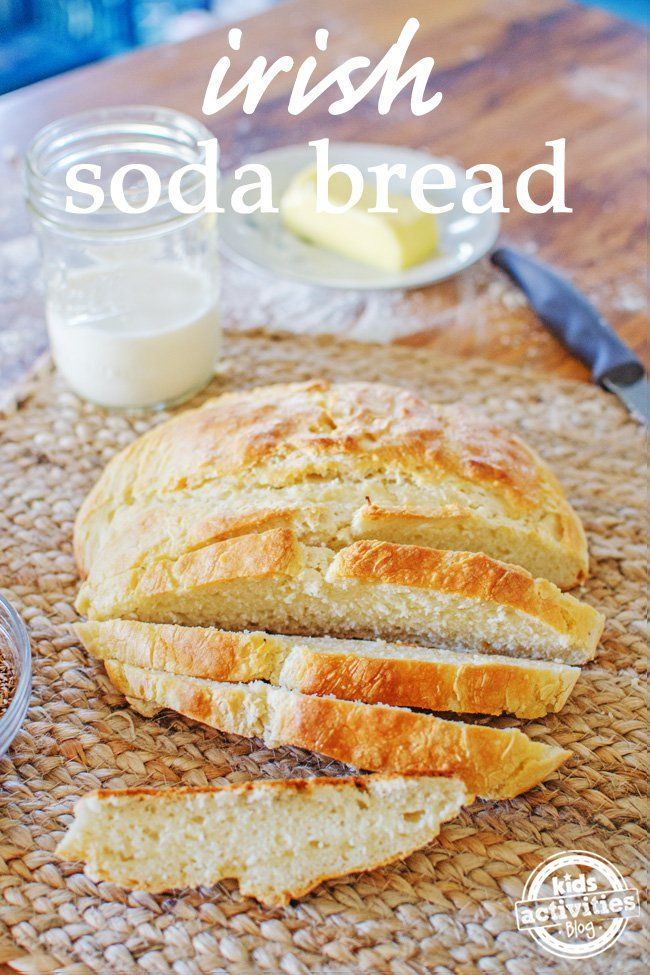 Traditional Irish Soda Bread. A great recipe to make with kids for Saint Patricks Day!
