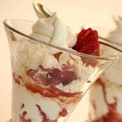 Strawberry Dessert with Meringues and Cream