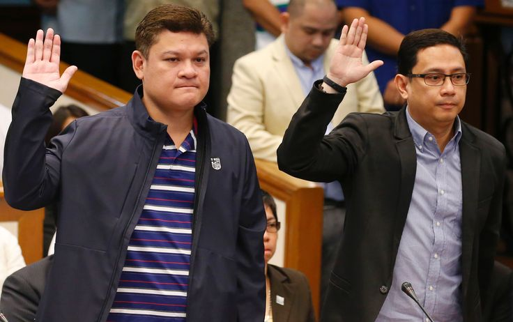 FOX NEWS: Duterte's sons grilled at Senate inquiry on drugs payoffs The Philippine president's son and son-in-law have appeared for the first time in a Senate committee inquiry looking into a huge shipment of illegal drugs from China that slipped through Manila's port and rampant corruption at the Bureau of Customs.