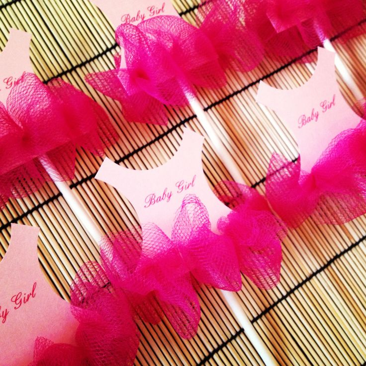 New to anaderoux on Etsy: Set of 30 Tutu Baby shower cupcake toppers - Tutu Baby shower invitation - Ballerina baby shower (49.80 USD)