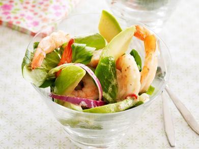 salade met cocktailgarnalen