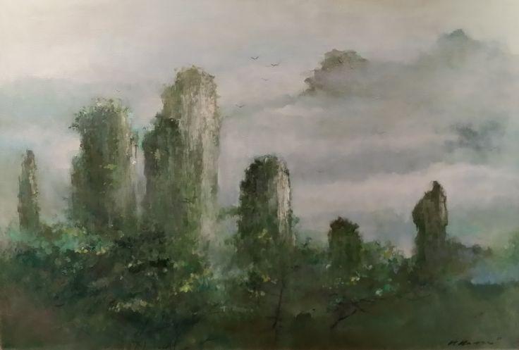 Zhang Jia Jie - China by Choo Keng Kwang, 82 x 122cm, Oil on Canvas, 2007