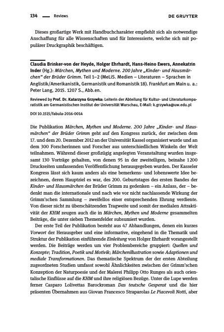 Claudia Brinker-von der Heyde, Holger Ehrhardt, Hans-Heino Ewers, Annekatrin…