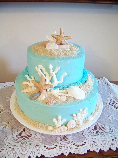 top-16-beach-theme-party-wedding-cakes-beauty-unique-ceremony-day-idea (3)