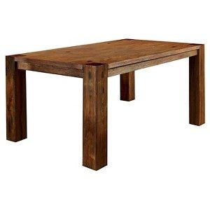 Sturdy Wooden Dining Table Wood/Dark Oak - Furniture of America