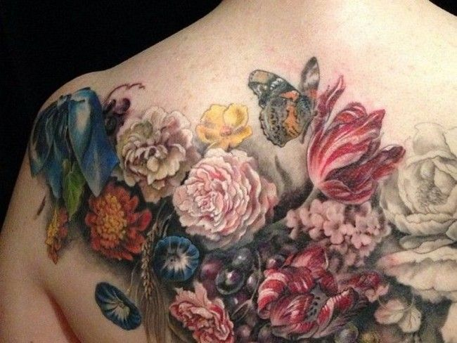 The 25 best japanese flower tattoo ideas on pinterest for Garden tattoos designs