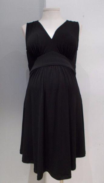 Gently used maternity dress Liz Lange Maternity sleeveless faux wrap dress Black. Nursing friendly. Ties at back. Size: Medium