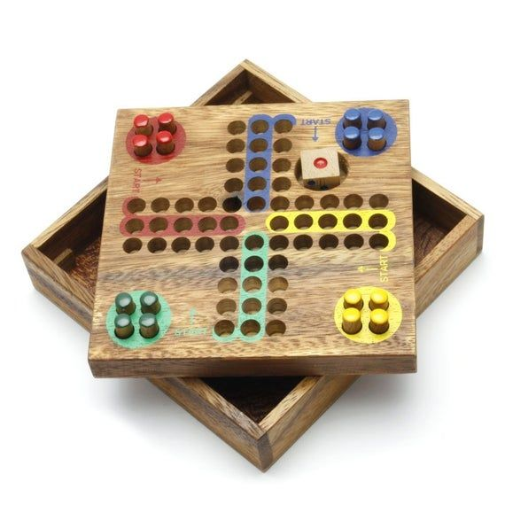 Wooden Toy Ludo Pin Wooden Board Games L The Organic Natural Puzzle Game Play For Baby And Kids In 2020 Wooden Board Games Board Games Wooden Games