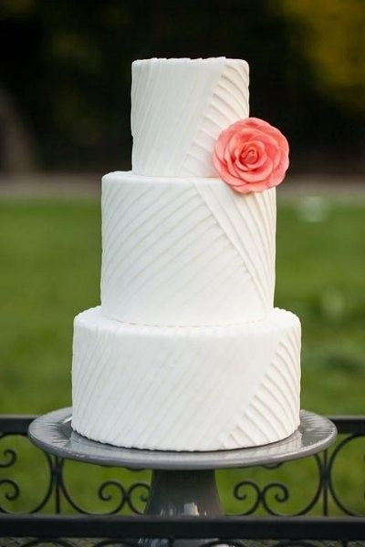 Summer Wedding Cake Ideas Wedding Cakes   #Coral #Wedding #Cake  #WeddingCakes