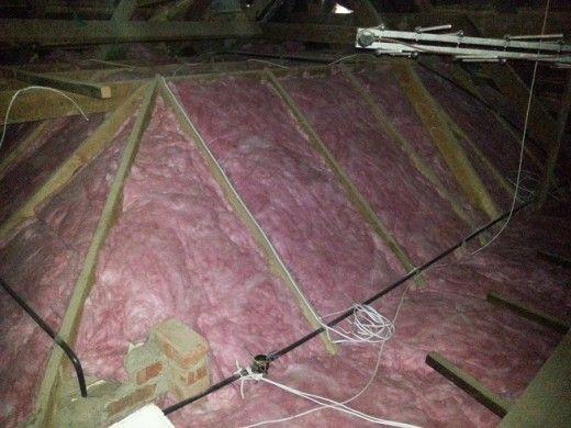 insulating with think pink aerolite