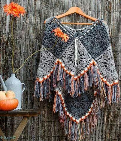 Love this poncho! Great inspiration!!