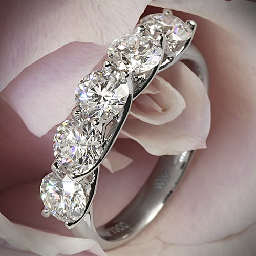 Five Stone Trellis Diamond Right Hand Ring with 5 0.30ct A CUT ABOVE Diamonds