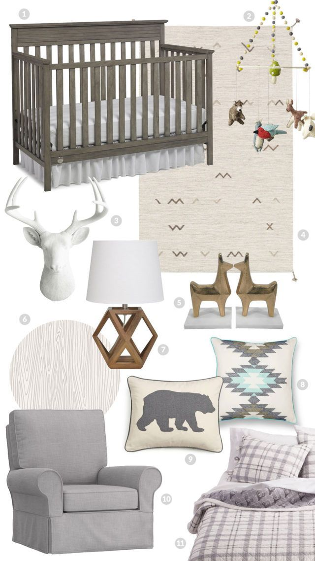 Neutral woodland nursery inspiration for our baby boy's room