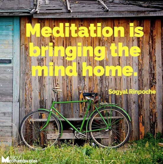 Meditation brings you home to your Self