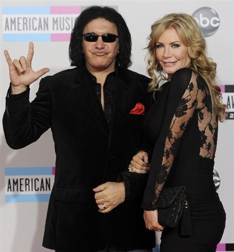 Gene Simmons & Shannon Tweed !!  This guy sure knows how to profit from merchandise rights -- who would have thought KISS would have lasted so long?