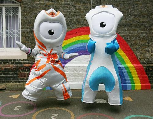 The London 2012 Olympic Mascots: Wenlock & Mandeville #London2012 #OlympicGames