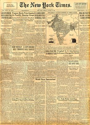 Indian Independence:1947 August 15 – NEWSPAPER DESIGN