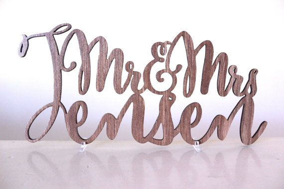 i-Create Laser Cutting and Engravings Personalised Mr & Mrs Surname Cake Topper is a unique and memorable cake topper.  Our Personalised Wooden Cake Toppers are custom made to suit your needs. i-Create cake toppers are cut from 3 or 4mm pine plywood, hardwood ply, MDF (natural wood colours vary) or acrylic. This is finished with a clear varnish for the plywood options.  You may choose to have little acrylic stands (as per picture) to sit the sign on or a 6cm, 10cm or 14cm stake to stick into…