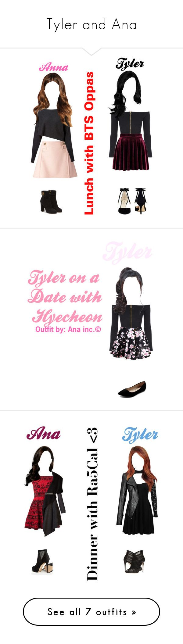 """""""Tyler and Ana"""" by ladonna-paiz ❤ liked on Polyvore featuring LE3NO, Puma, River Island, Jaded, Converse, TOMS, Boohoo, Alice + Olivia, Pierre Balmain and R13"""