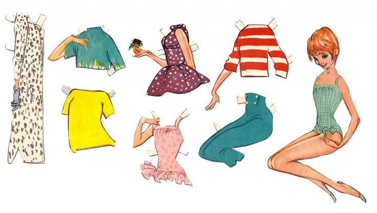 Fashion illustration paperdoll