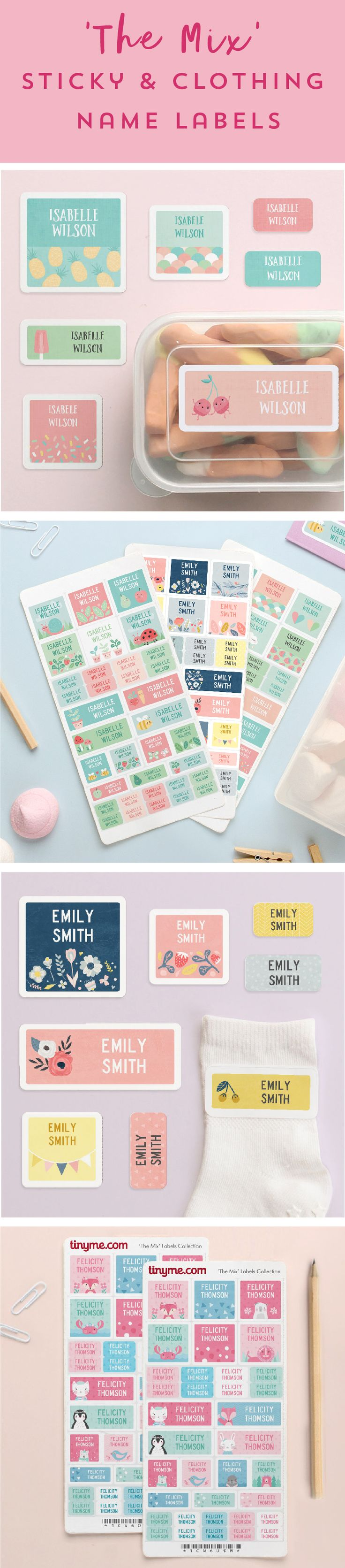 28 best graphic design images on pinterest character design 35 sticky or clothing name labels from 10 the best kids labels pack fandeluxe Choice Image
