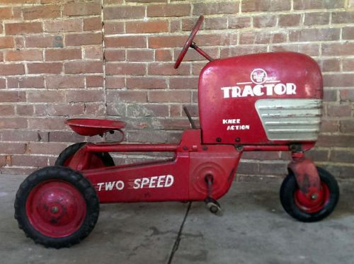 Metal Toy Tractors >> 1950s Childs AMF Pedal Tractor 2 Speed Shift Chain Drive Original Paint Vintage   OLD TOYS ...