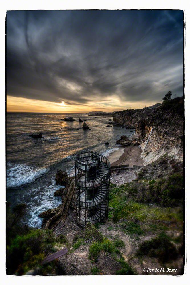 Abandoned Beach Access Staircase, Pismo Beach, California