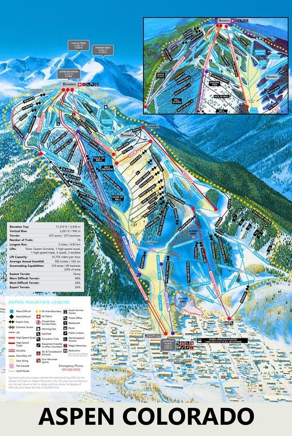 Aspen Colorado Trail Map Printed On 12x18 Inch Metal Photo Etsy In 2020 Colorado Skiing Aspen Mountain Aspen Colorado