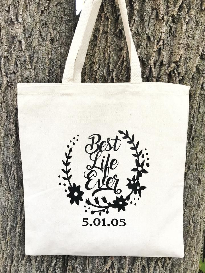 Best Life Ever Natural Canvas Tote Bag | 2019 Convention