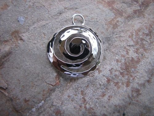 Sterling Silver Large Hammered Swirl from Sweet Sweet Silver only $26.00.