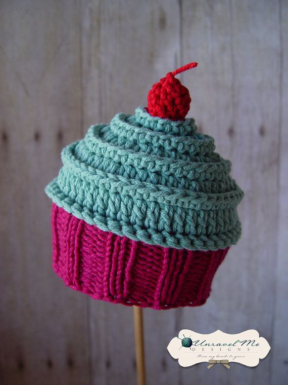 PDF Crochet Pattern and Crochet/Knit pattern - Baby Cakes Cupcake Hat?