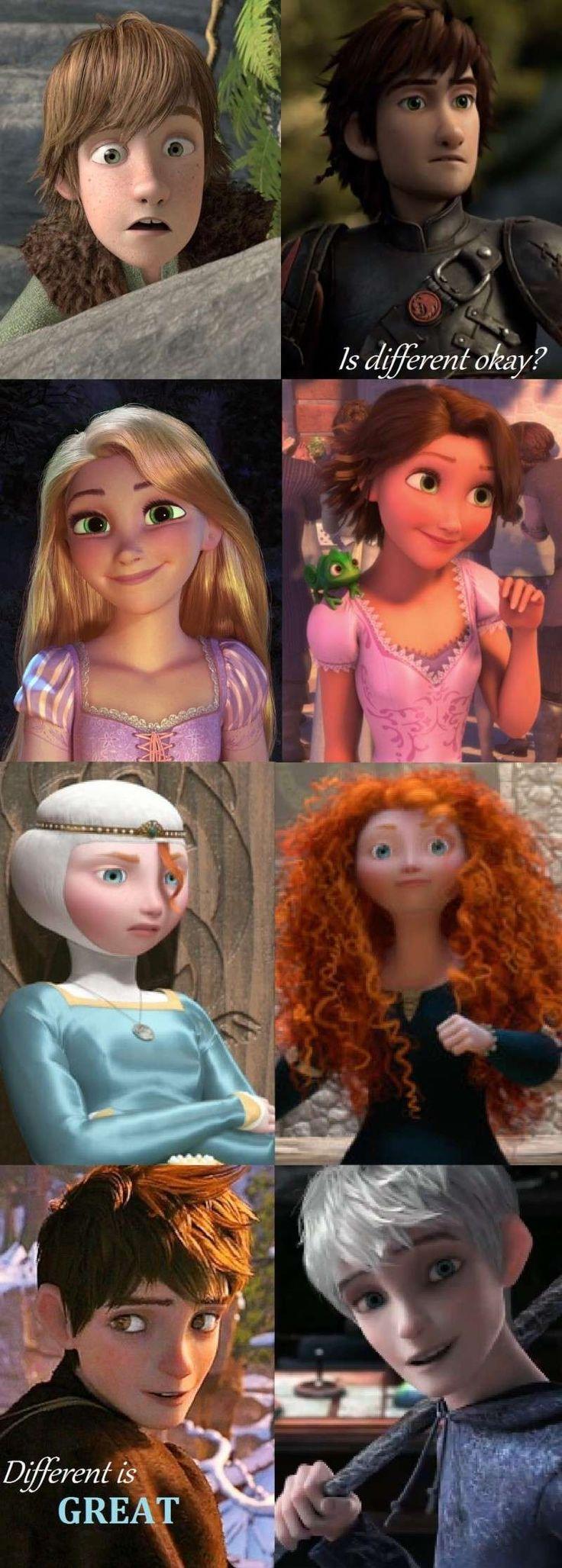 merida hiccup jack rapunzel   Fan art) Merida, Rapunzel, Jack et Hiccup - The Big Four - Page 24