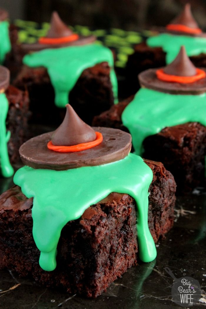 I'll get you, my pretty, and your little dog, too!..........unless I'm melting onto chocolate brownies! ;) Melting Witch Brownies for the Halloween Party!