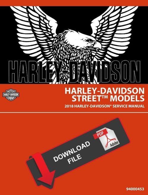 Harley Davidson 2018 Street Service Manual & Electrical Diagnostic on
