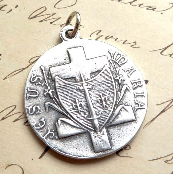 Sterling Silver St Joan of Arc Pendant