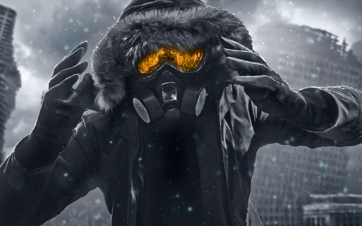 Romantically Apocalyptic Gas Mask Digital Artwork HD Wallpaper | FreeHDWall.Com | Free HD Wallpapers for your Desktop