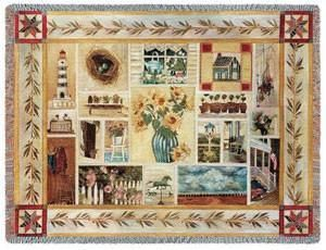 American Country Throw Blanket