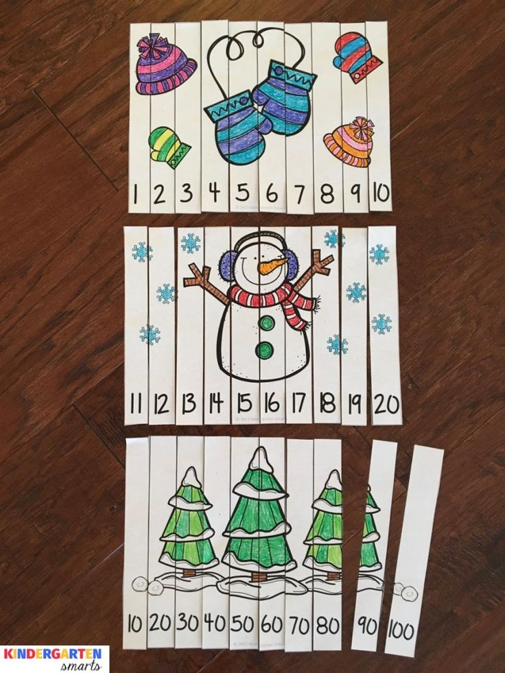 Winter Math Puzzles - Differentiated for all learners!